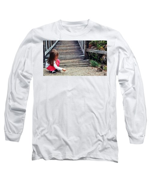 A Girl And A Squirrel Long Sleeve T-Shirt