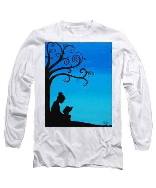 A Girl And Her Book Long Sleeve T-Shirt