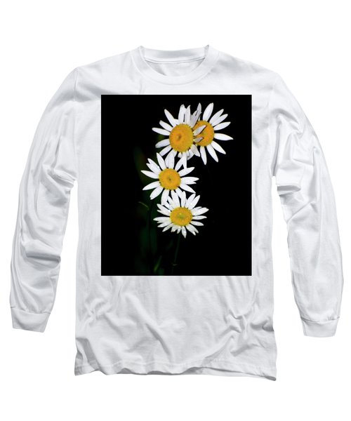 Long Sleeve T-Shirt featuring the digital art A Group Of Wild Daisies by Chris Flees