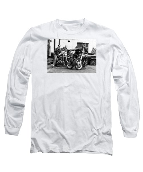 A Group Of Women Associated With The Hells Angels, 1973. Long Sleeve T-Shirt