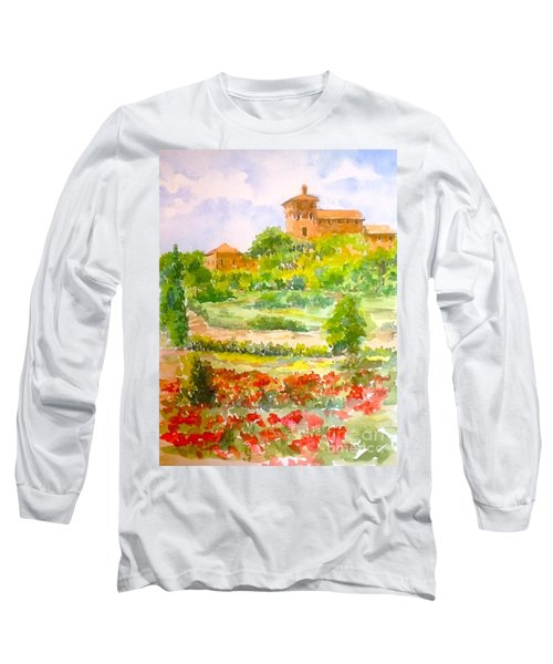 A Hillside Near San Gimignano Long Sleeve T-Shirt
