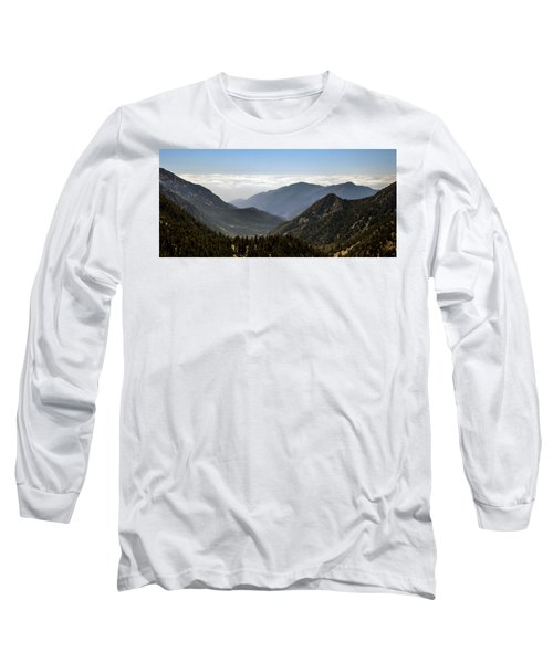 A Lofty View Long Sleeve T-Shirt by Ed Clark