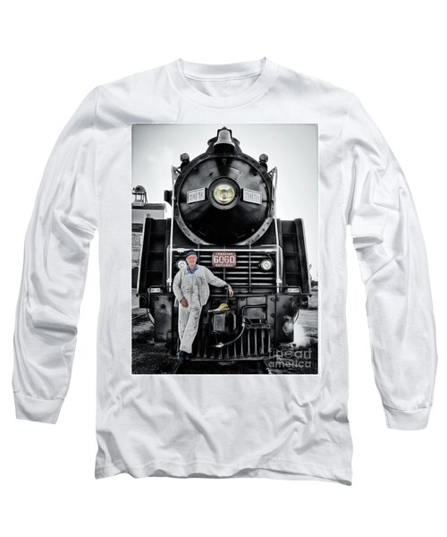 A Man And His Locomotive Long Sleeve T-Shirt