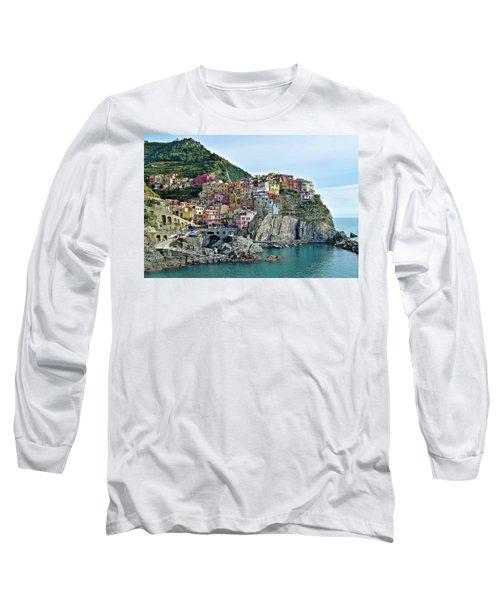 Long Sleeve T-Shirt featuring the photograph A Manarola Morning by Frozen in Time Fine Art Photography