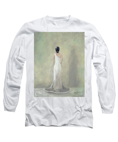 A Moment Alone Long Sleeve T-Shirt by T Fry-Green