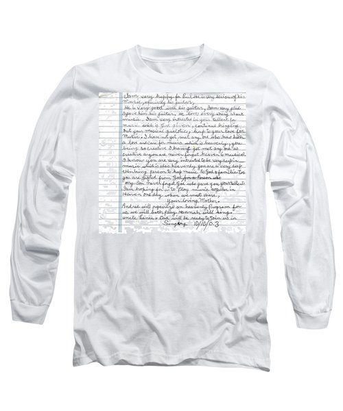 A Mothers Last Words To Her Son Me Long Sleeve T-Shirt by Paul SEQUENCE Ferguson             sequence dot net