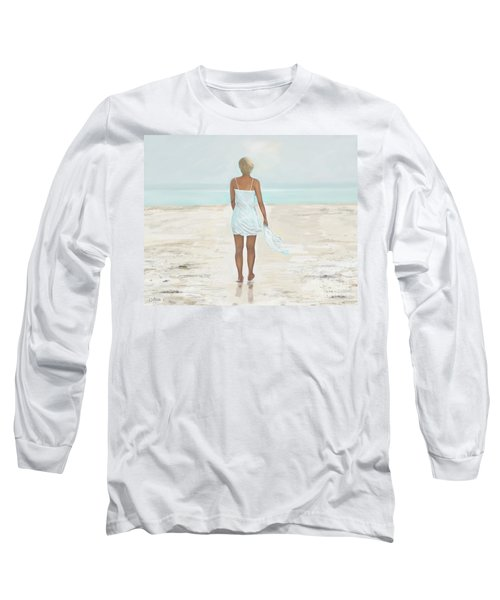 Long Sleeve T-Shirt featuring the painting A Natural Beauty by Leslie Allen