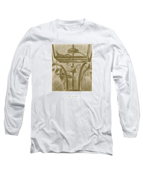 Long Sleeve T-Shirt featuring the drawing A Nest In A Lamp by David Davies