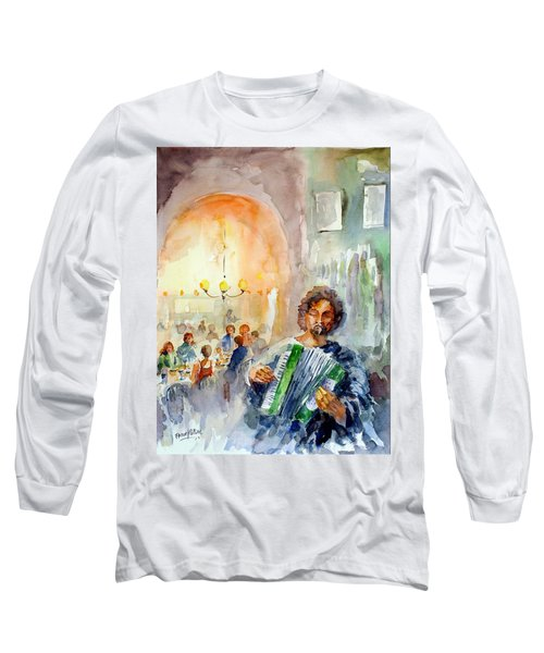 Long Sleeve T-Shirt featuring the painting A Night At The Tavern by Faruk Koksal