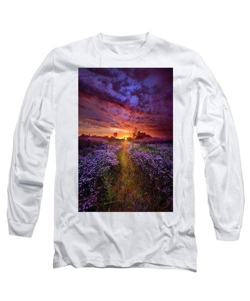 A Peaceful Proposition Long Sleeve T-Shirt by Phil Koch