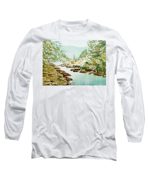 A Quiet Stream In Tasmania Long Sleeve T-Shirt