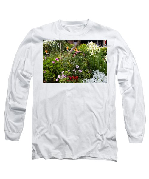 Long Sleeve T-Shirt featuring the photograph A Riot Of Flowers by Lorraine Devon Wilke