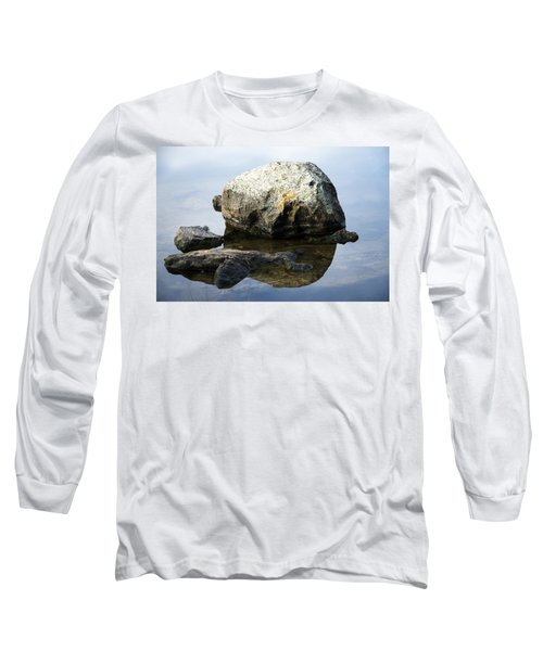 A Rock In Still Water Long Sleeve T-Shirt