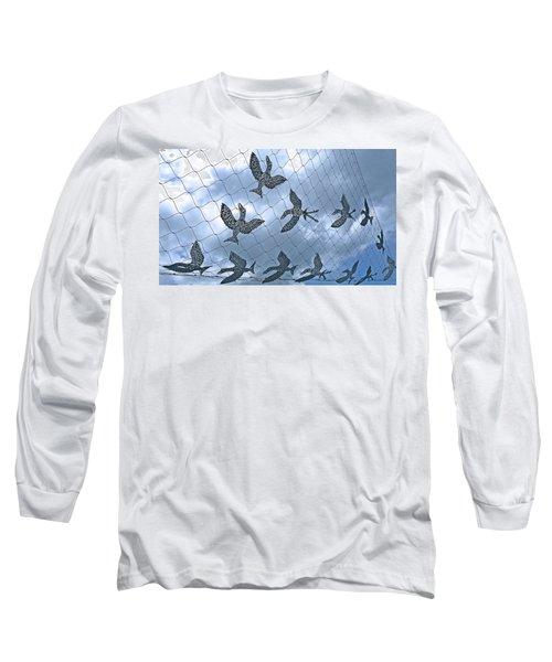 A Sculptural Flock No. 103-1 Long Sleeve T-Shirt