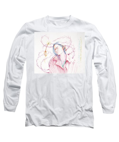 Long Sleeve T-Shirt featuring the drawing A Sower's Nightmare by William Hart McNichols