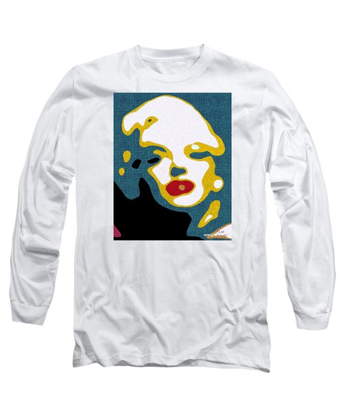 A Sexy Glance Long Sleeve T-Shirt by Pedro L Gili