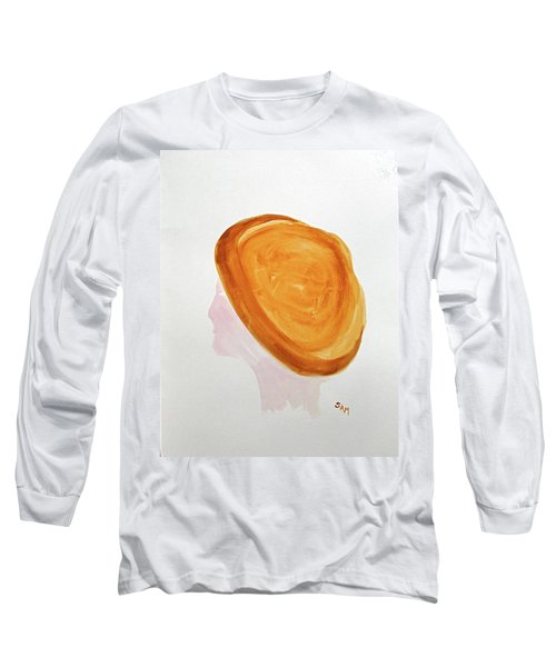 Long Sleeve T-Shirt featuring the painting A Simple Hat by Sandy McIntire
