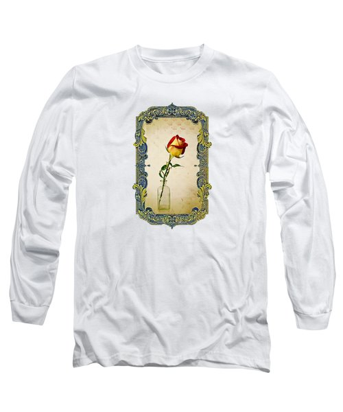 A Single Rose Long Sleeve T-Shirt by Larry Bishop
