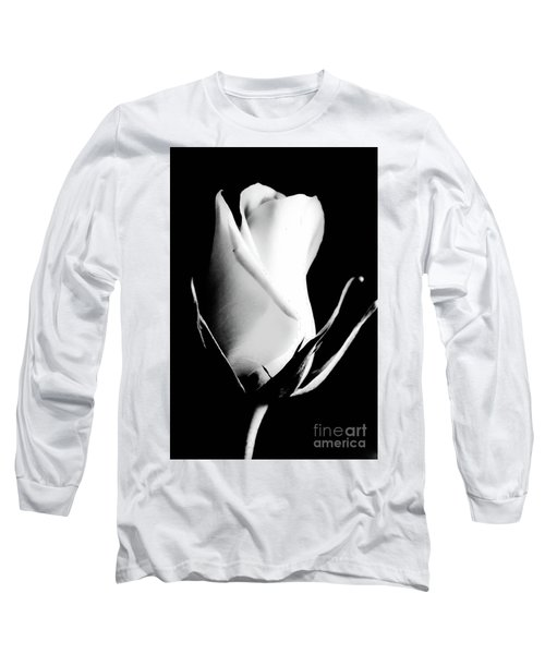 A Single White Rose Long Sleeve T-Shirt