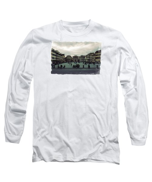 Long Sleeve T-Shirt featuring the photograph A Square In Florence Italy by Wade Brooks
