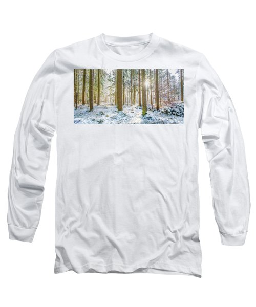 Long Sleeve T-Shirt featuring the photograph A Sunny Day In The Winter Forest by Hannes Cmarits