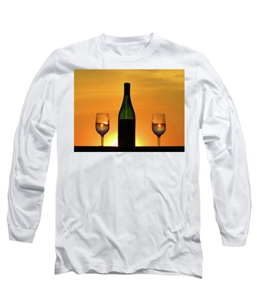 A Sunset In Each Glass Long Sleeve T-Shirt