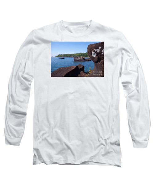 Long Sleeve T-Shirt featuring the photograph A Superior View by Sandra Updyke
