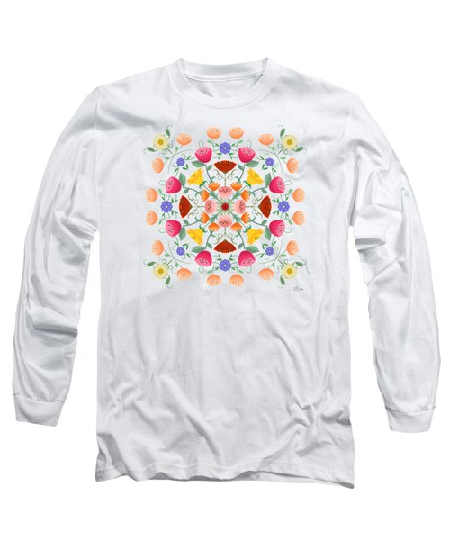 A Symphony Of Dancing Floral Delights Long Sleeve T-Shirt