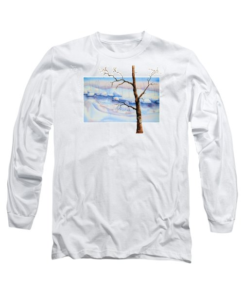 A Tree In Another Dimension Long Sleeve T-Shirt by Debbie Lewis
