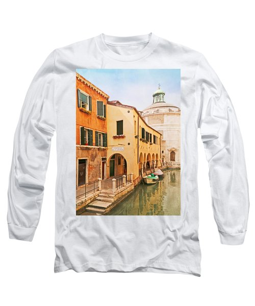 A Venetian View - Sotoportego De Le Colonete - Italy Long Sleeve T-Shirt by Brooke T Ryan