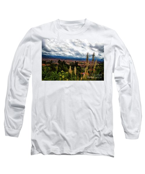 A Vista Of Cuenca From The Autopista Long Sleeve T-Shirt by Al Bourassa