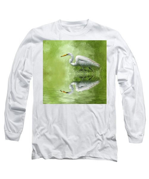 A Walk In The Marsh Long Sleeve T-Shirt by Cyndy Doty