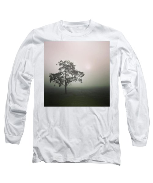 A Walk Through The Clouds #fog #nuneaton Long Sleeve T-Shirt