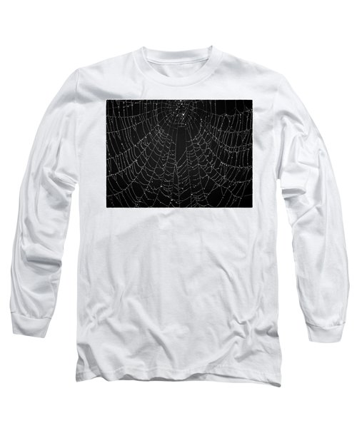 A Web Of Silver Pearls Long Sleeve T-Shirt