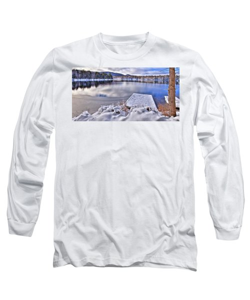 Long Sleeve T-Shirt featuring the photograph A Winter Day On West Lake by David Patterson