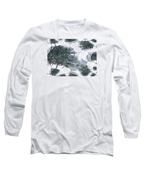 A Winter Fractal Land Long Sleeve T-Shirt by Skyler Tipton