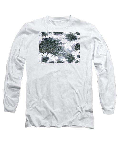 A Winter Fractal Land Long Sleeve T-Shirt