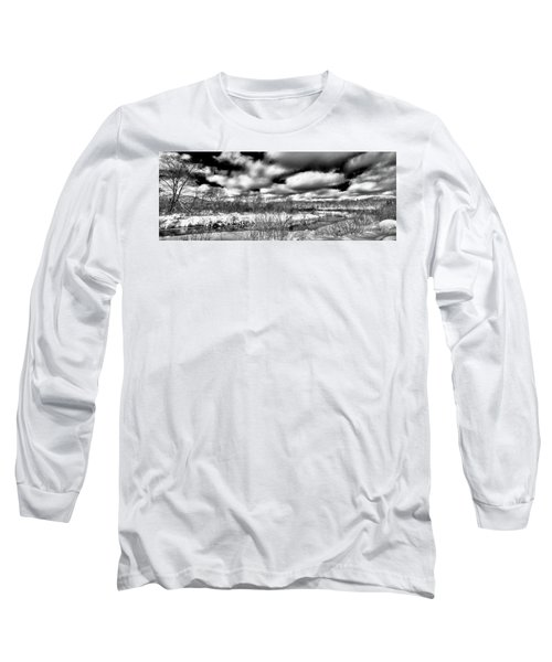 Long Sleeve T-Shirt featuring the photograph A Winter Panorama by David Patterson