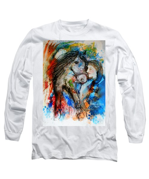 A Woman And Her Horse Long Sleeve T-Shirt