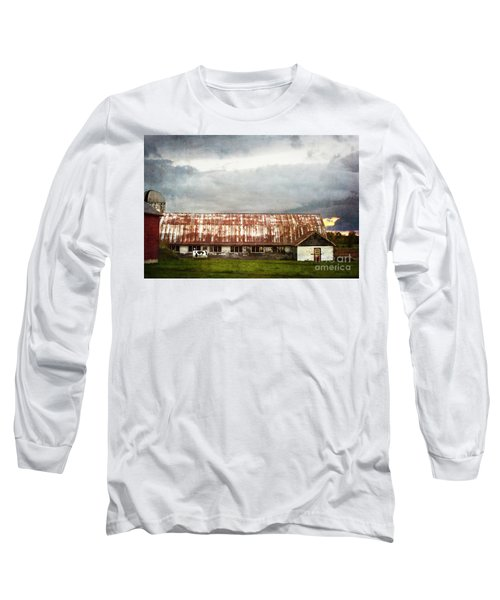 Abandoned Dairy Farm Long Sleeve T-Shirt by Judy Wolinsky