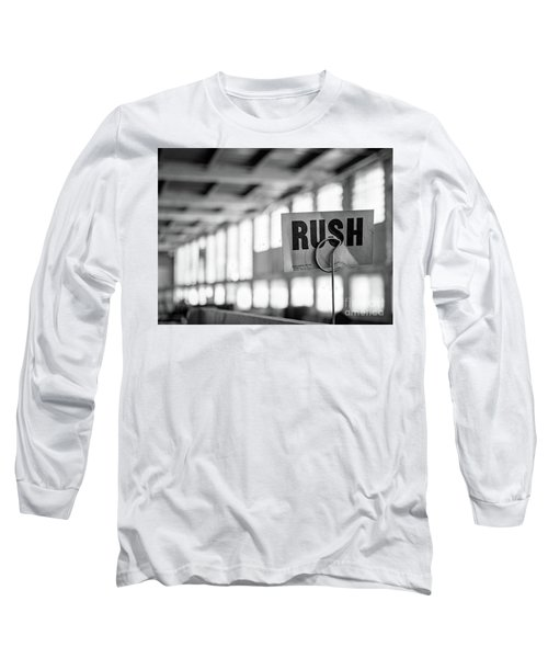 Long Sleeve T-Shirt featuring the photograph Abandoned Factory, Lewiston, Maine  -48683-bw by John Bald