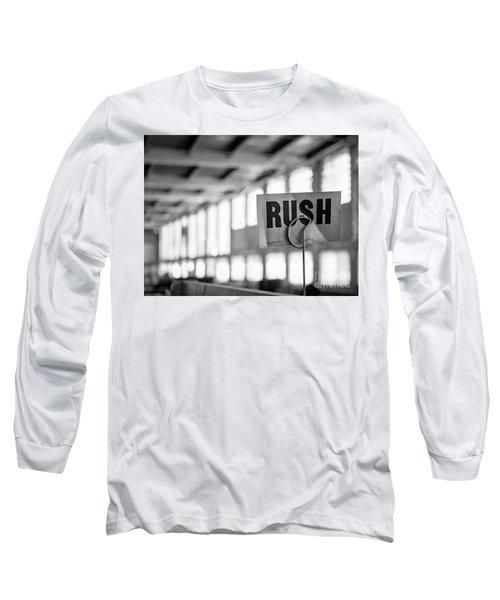 Abandoned Factory, Lewiston, Maine  -48683-bw Long Sleeve T-Shirt