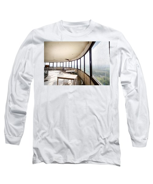 Long Sleeve T-Shirt featuring the photograph Abandoned Tower Restaurant - Urban Decay by Dirk Ercken