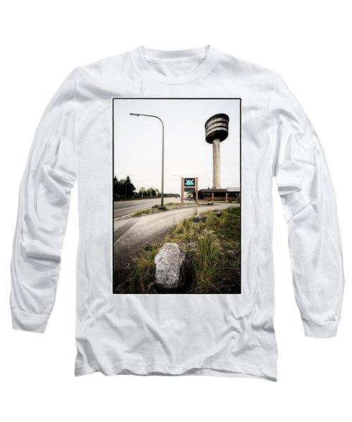 Long Sleeve T-Shirt featuring the photograph Abandoned Tower Restaurant - Urban Exploration by Dirk Ercken