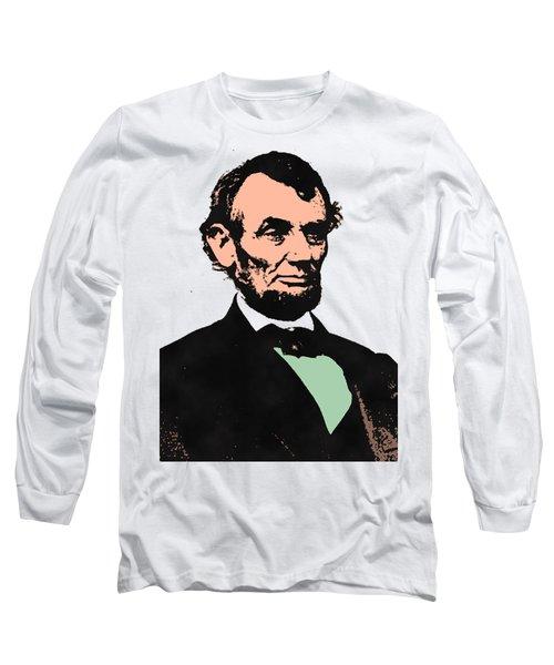 Abe Lincoln 2 Long Sleeve T-Shirt by Otis Porritt