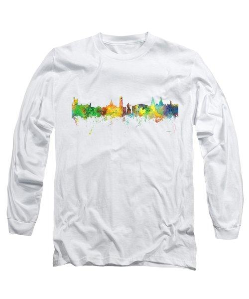 Aberdeen Scotland Skyline Long Sleeve T-Shirt by Marlene Watson
