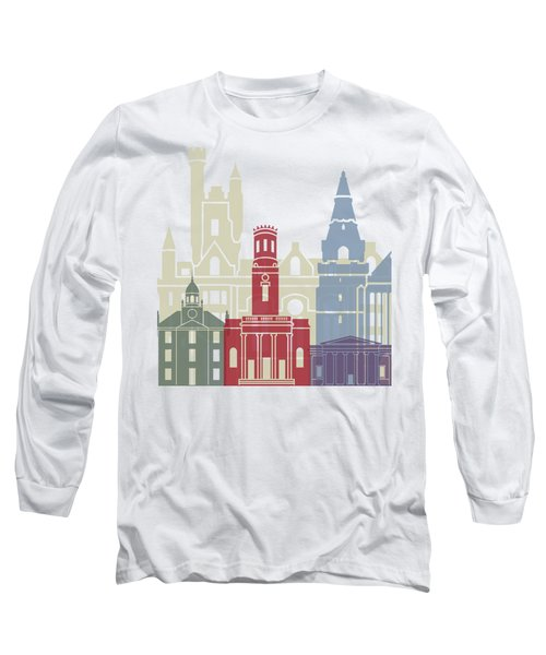 Aberdeen Skyline Poster Long Sleeve T-Shirt