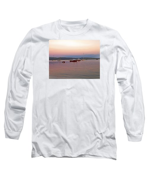 Long Sleeve T-Shirt featuring the photograph Aberdovey Moorings. by Paul Scoullar