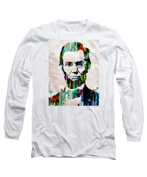 Abraham Lincoln Art Watercolor Long Sleeve T-Shirt