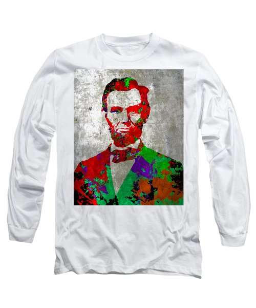 Abraham Lincoln On Silver - Amazing President Long Sleeve T-Shirt